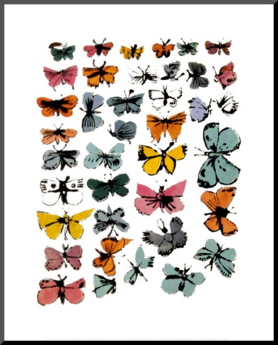 Butterflies, 1955 Mounted Print by Andy Warhol at Art.com