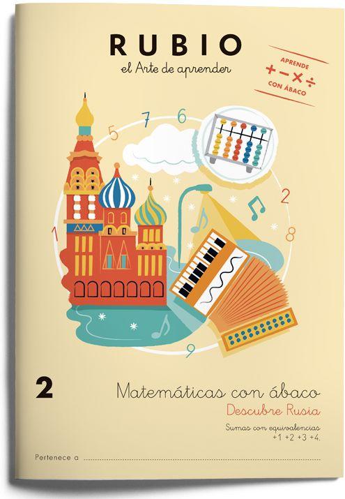 2 Matemáticas con ábaco- Colección de cuadernos para aprender matemáticas con ábaco japonés. Cuadernos Rubio. www.rubio.net