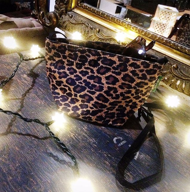 "Christmas shopping with my lovely ""Hervé"" leopard print.  http://www.hervechapelier.com/EN/mini-tote-square-base-size-xs--1927F.aspx"