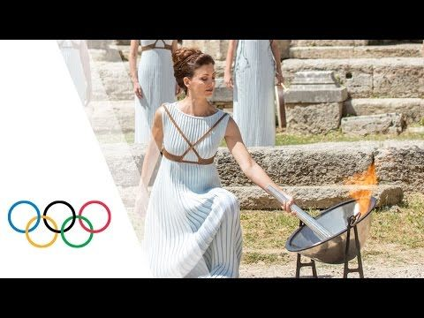 Highlights of the Olympic Flame Lighting Ceremony for the Rio 2016 Olympic Games - YouTube