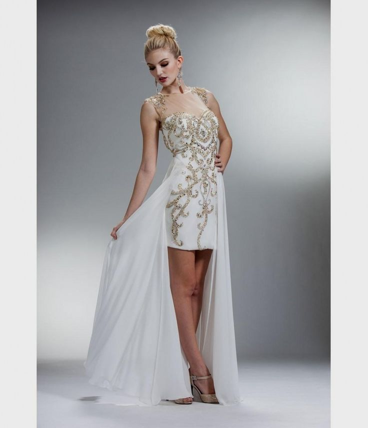 white and gold high low prom dresses naf dresses pertaining to short white dresses for wedding reception