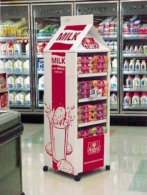 Why not display milk containers in a giant milk container?