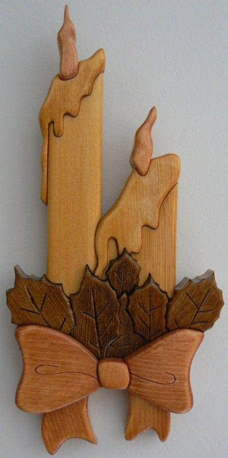 Velas en madera