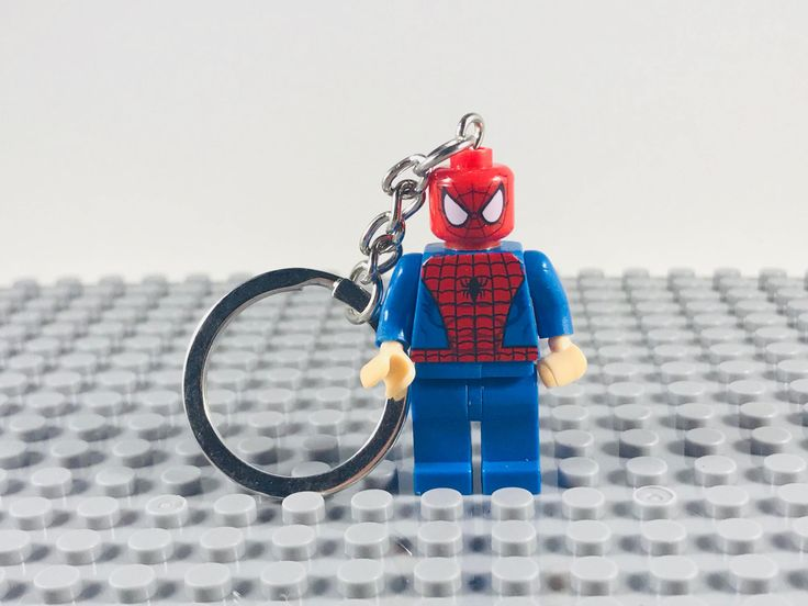 Excited to share the latest addition to my #etsy shop: Marvel Spider Man Lego Minifigure Keychain http://etsy.me/2CDsXdX #toys #spiderman #custom #lego #legominifigure #avengers #legogift #legochristmas #thebrickfactory