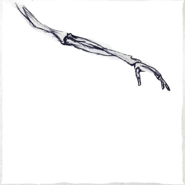 studio 6. Fashion Design (Honours) RMIT University. led pencil sketch, bones, arm structure.