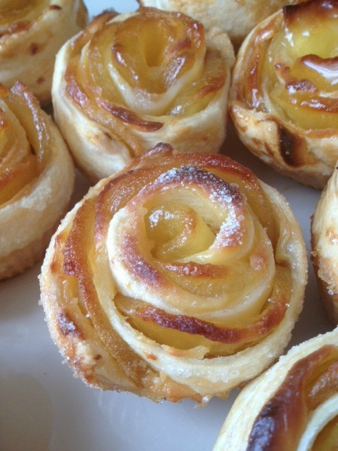 Rosas de tarta de manzana
