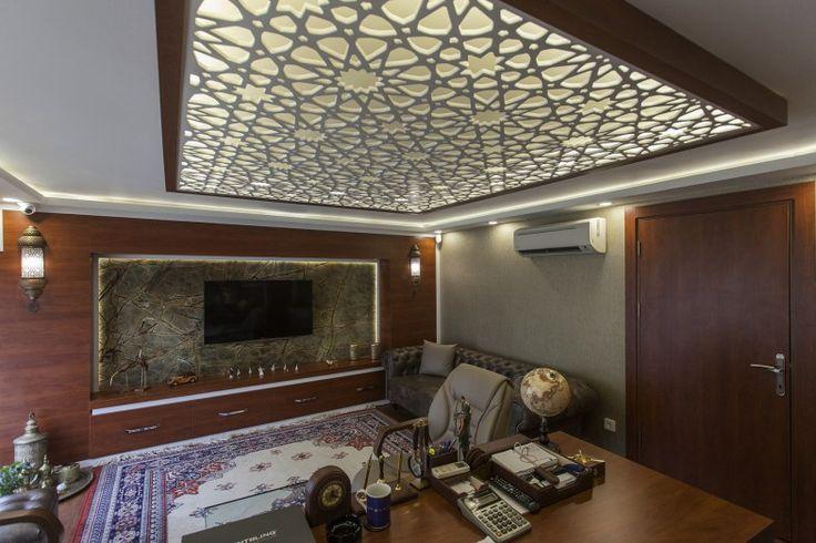 Ofis Dekorasyonu, Ofis Mermer Uygulaması, Yeşil Mermer, Oficce Design, green marble