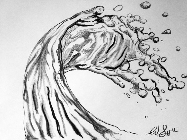 Splashing Water Drawing How to draw water splash