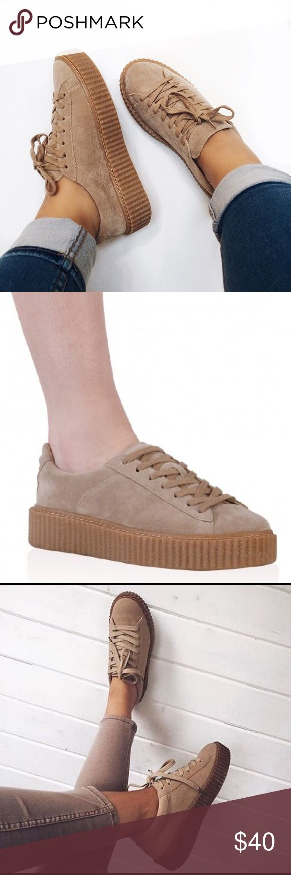 Tan Suede Creepers Perfect condition! UK 5 / US 7 Shoes