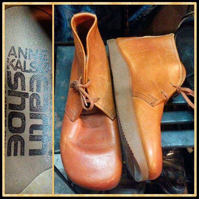 Deadstock unworn vintage 1970s Anne Kalso negative heel leather earth shoes, Women's 8. #boots #booties #leatherboots #fall2016 #instastyle #instafashion #fallfashion