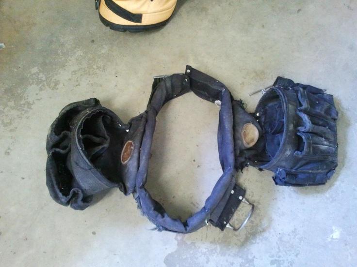 """Donnie's """"vintage"""" (10 yr old) Klein tool belt"""