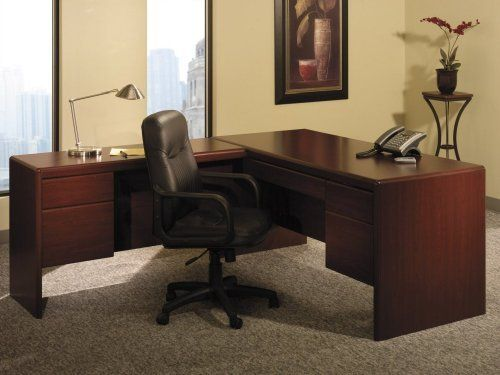 L-Shaped Desk - Bush Office Furniture - OFFPKG-28 by Bush Furniture. $654.00. Lock for file drawer conveniently located in knee well accepts Pencil Drawer/Keyboard Shelf. Includes: (1) Return (EX17710) (1) Double Pedestal Desk (EX17718) (1) Pencil Drawer / Keyboard Shelf (EX17751. With its clean lines and intricate, rounded edges, the Northfield Collection offers design simplicity and sophisticated styling to any decor. 8-way rounded radius edges attaches to Desk EX...