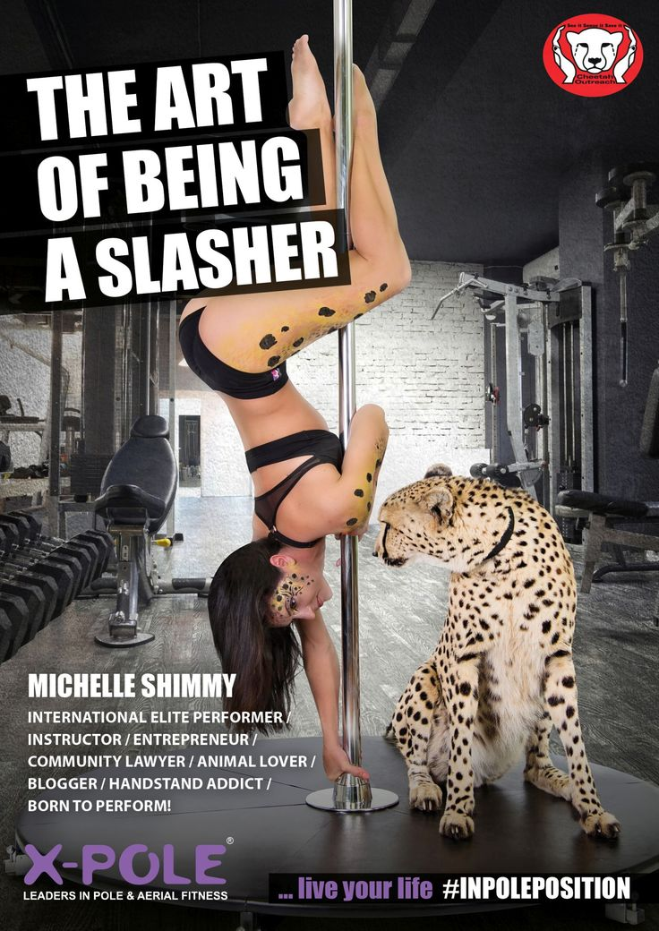 Michelle Shimmy: The ART of being a #slasher January 2016 #XPoleSA #inpoleposition