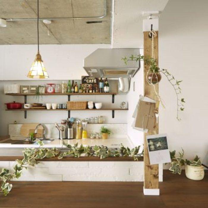 理想の棚をdiy 本もキッチンも Labrico ラブリコ でスッキリ収納 キナリノ ラブリコ インテリア 棚
