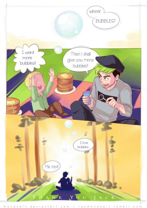 """raymondoart: A little comic I made for jacksepticeye about the game """"that dragon, cancer"""". Despite being emotionally draining I can't resist watching it over and over again especially the most beautiful part: the ending. My heart goes out to little Joel Evan Green as well. May your soul be at peace… therealjacksepticeye: Aw so cute!! (This game ripped my heart out man...)"""