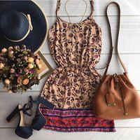 Vestido de verão 2016 mulheres leopardo impressão vestido de verão vestido sem…