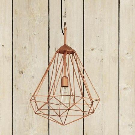 Diamond Copper Pendant Lamp - View All Lighting - Lighting - Lighting & Mirrors