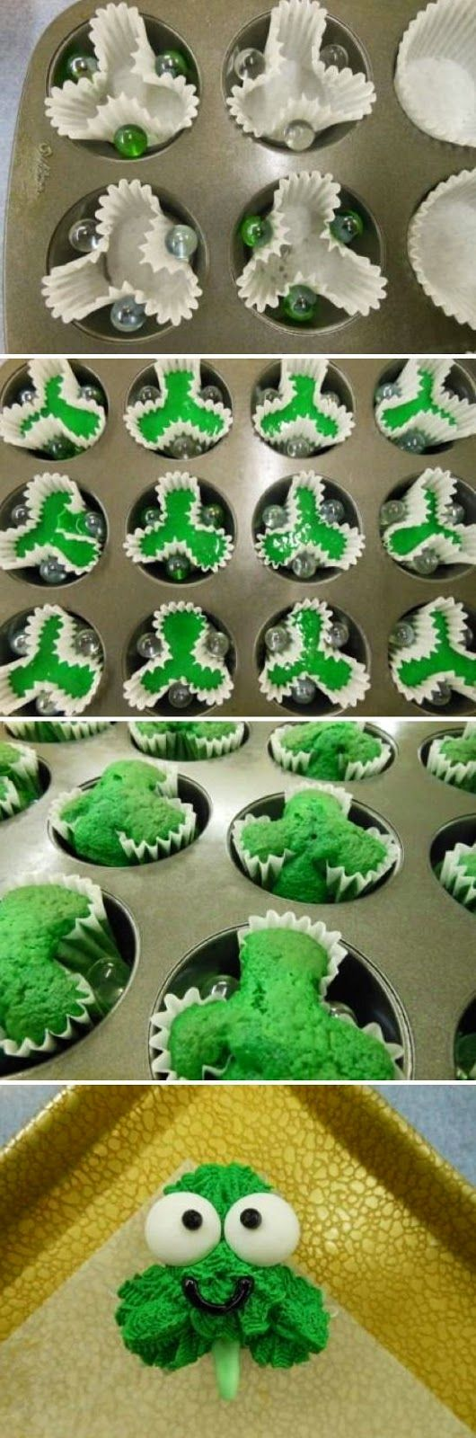 Shamrock Cupcakes #cupcakes #cupcakeideas #cupcakerecipes #food #yummy #sweet #delicious #cupcake