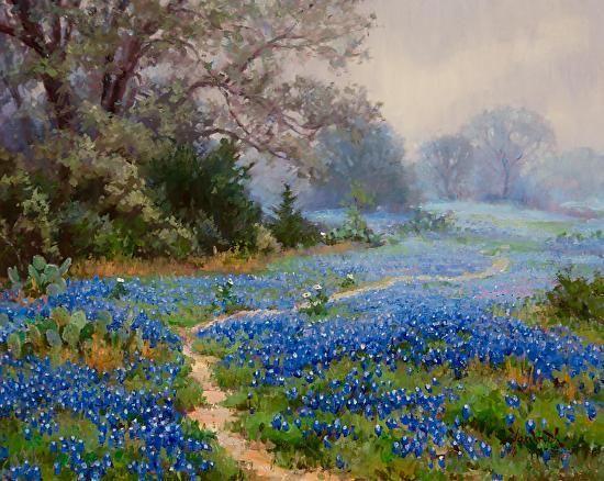 Misty Blues by Mark Haworth Oil ~ 16 x 20