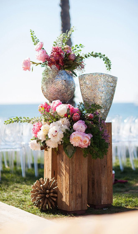 Wedding Ceremony Flowers ~ Photography by Samuel Lippke Studios // Event Design + Planning: Alchemy Fine Events & Invitations // Floral Design: Isari Flower Studio + Event Design