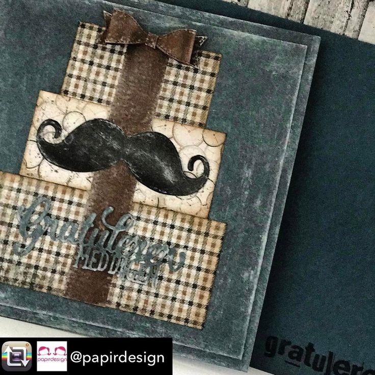 """86 likerklikk, 4 kommentarer – HildeRøisehagen (@hilderoisehagen) på Instagram: """"I dag blogger jeg for @papirdesign  #herrekort #papirdesign #madebyme #handmade #stempelgalkort…"""""""