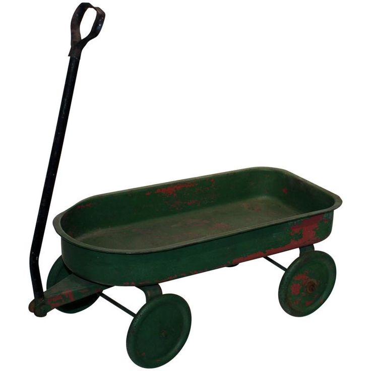 Painted Green Toy Wagon 1