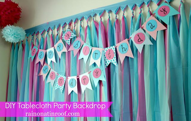 DIY Party Backdrop Tutorial {Cheap & Easy} - Rain on a Tin Roof
