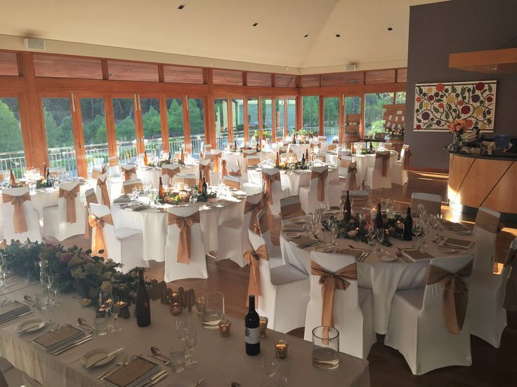 Weddings at Millbrook Winery | Florals - Signature Floral Design | Chair decorations - Infinity Weddings and Events
