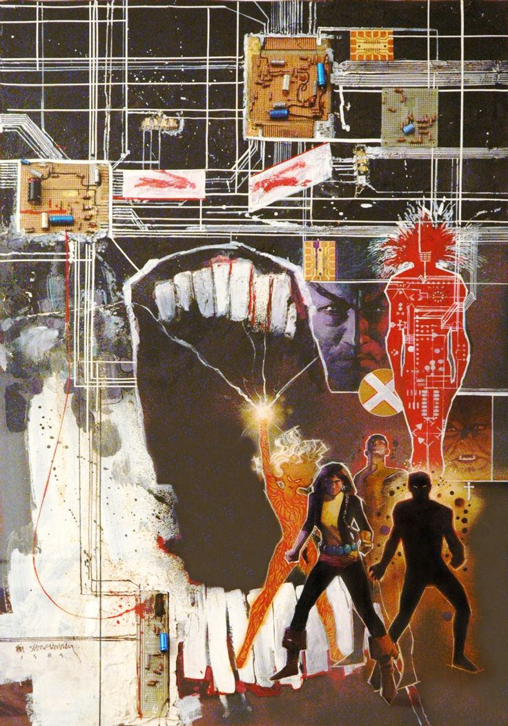 jewellery on line brianmichaelbendis   New Mutants multi media collage poster