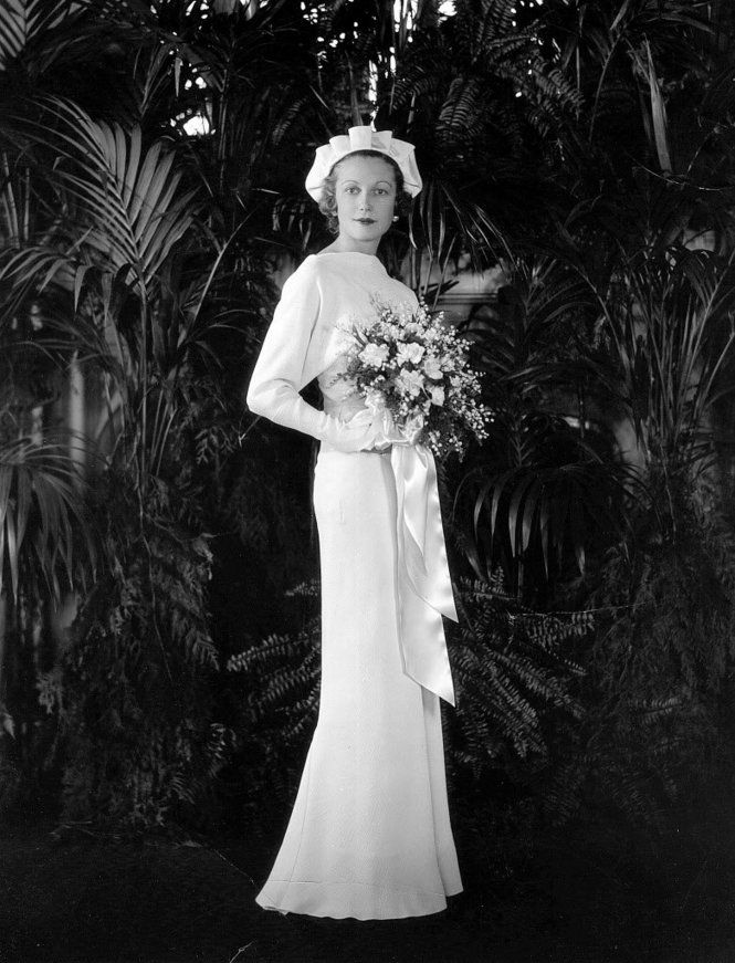 Brides, grooms, bridesmaids, wedding dresses: Cleveland fashions 1930s, 1940s...Adele Casto married Robert Evans in 1935