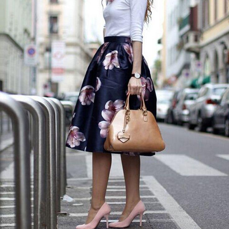 Empire Waist Floral Print Elastic High Waist Long Midi Skater Skirt   -      -   Skirts, www.looklovelust.com   -   2  https://www.looklovelust.com/products/empire-waist-floral-print-elastic-high-waist-long-midi-skater-skirt