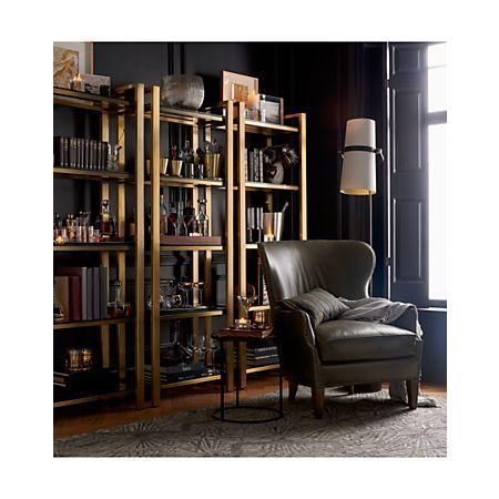 Riston Floor Lamp   Bookcase, Crate, barrel, Leather ... on Riston Floor Lamp  id=89957