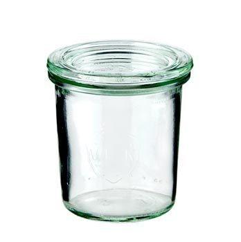 12 Sturzgläser mit Deckel von Weck 160ml.    Die Weckgläser sind leicht konisch geformte Gläser. Sie zeichnen sich durch Ihre große Stabilität und Ihr