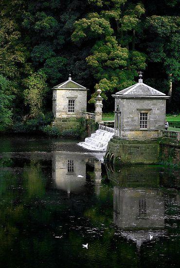 Royal Water Garden, Fountains Abbey, England, UK