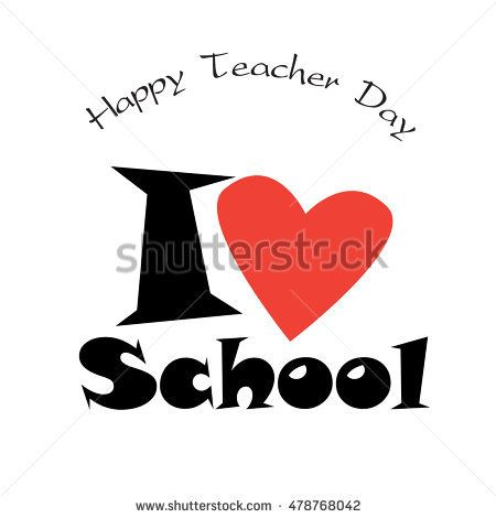 Happy Teachers Day background. Vector Illustration. World Teachers' Day is celebrated every year on 5th October. T-shirt design. Art, Print, Web design. Kids, School, Education icons, banner, card.