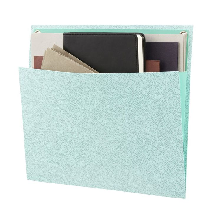 Martha Stewart Shagreen Large Vertical Pocket Blue   Officeworks