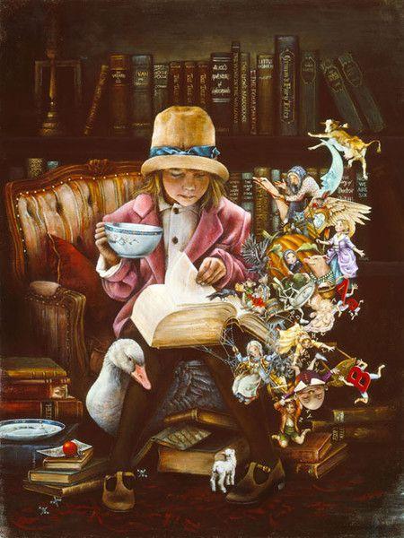 By Lori Preusch, The magic of reading.