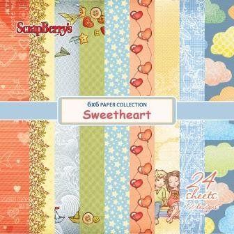 Scrapbookdepot - ScrapBerrys Sweetheart Papier pakket 24 vel 15,2x15,2cm