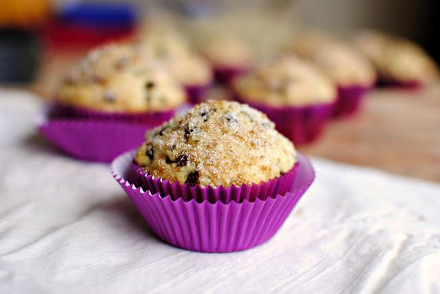 Simply Scratch » Sugar Crusted Chocolate Chip Muffins Can use canola ...