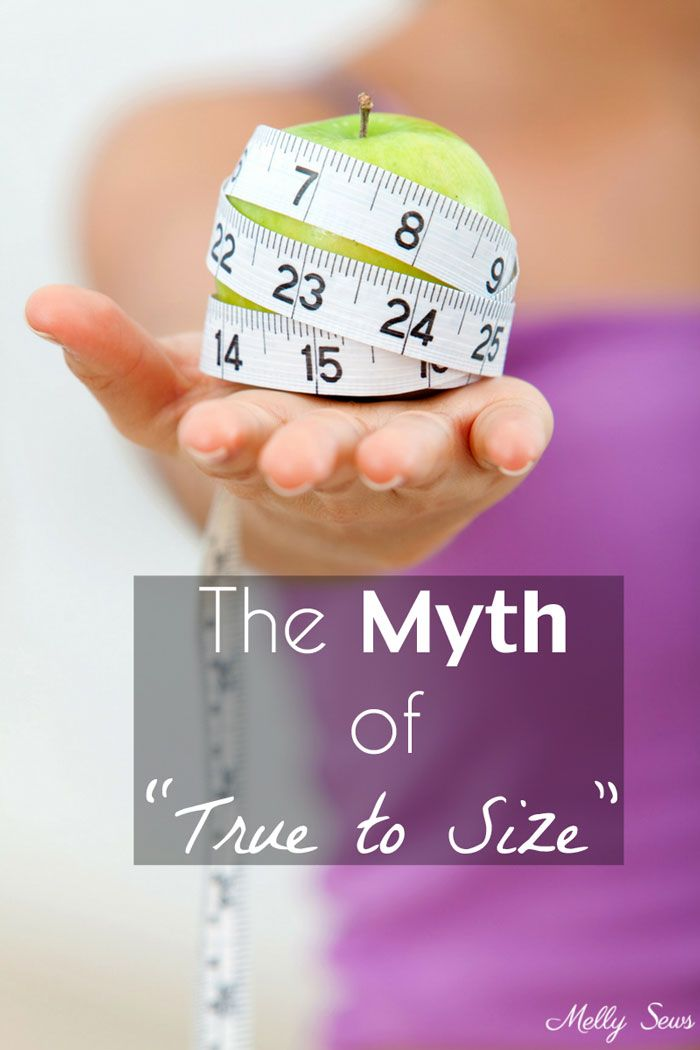 """The Myth of """"True To Size"""" - Why it's a Misleading Term - Melly Sews"""