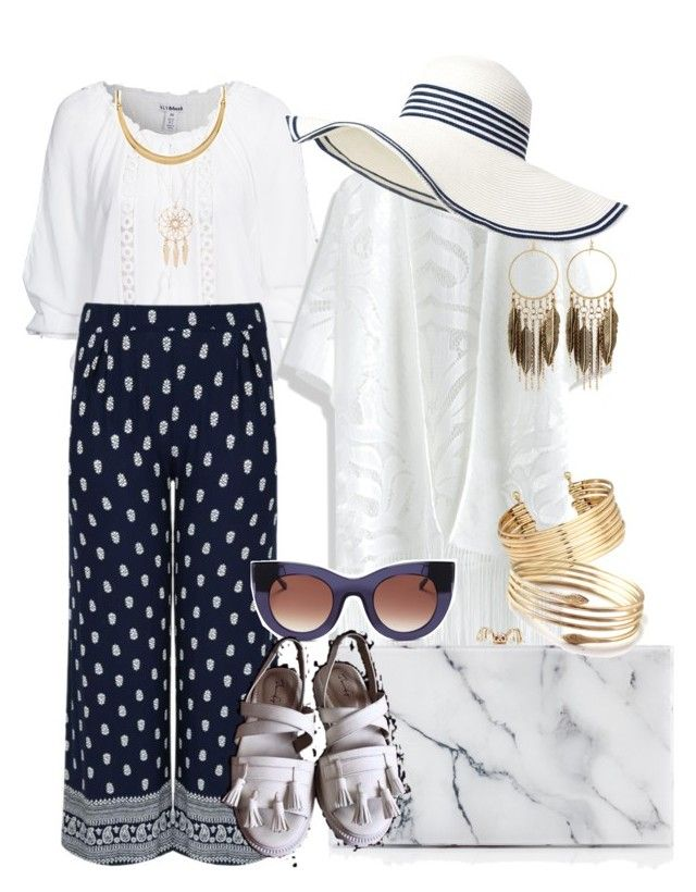 Flaminggo alcyone by syifasyhdh on Polyvore featuring polyvore, fashion, style, Chicwish, Charlotte Olympia, H&M, Panacea, White House Black Market, Anarchy Street, Two's Company and Thierry Lasry