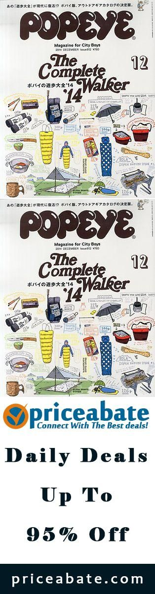 """#priceabatedeals POPEYE 2014 DECEMBER The Complete Walker """" Magazine for City Boys """" Japanese - Buy This Item Now For Only: $26.0"""