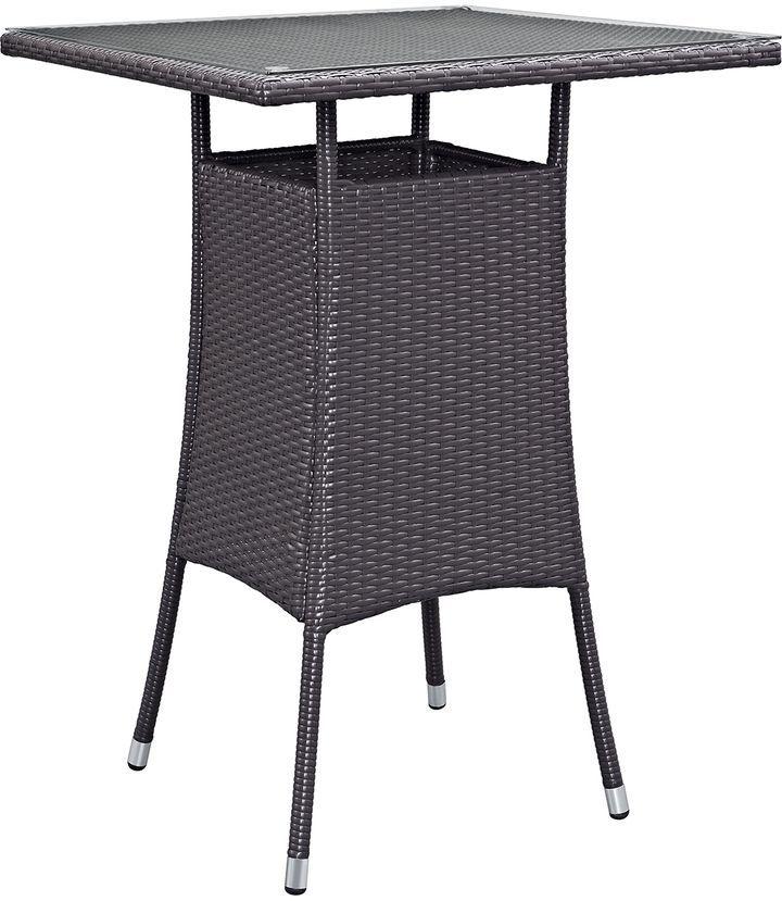 Modway Outdoor Convene Small Outdoor Patio Bar Table
