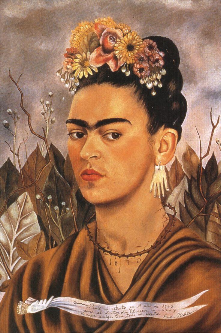 Frida Kahlo. Self portrait dedicated to Dr Eloesser (1940)