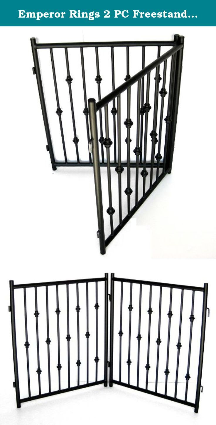 Emperor Rings 2 PC Freestanding Dog Gate. Our newest high quality, luxurious freestanding dog gate, which can easily be moved around and reconfigured to fit any space. Note: for pets only. This item is NOT a baby gate.