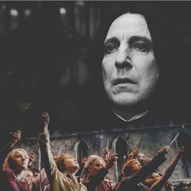 Uma grande perda :'( R.I.P Alan Rickman, para sempre Prof Snape :'(