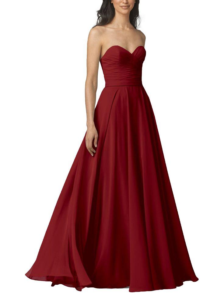 DescriptionWtoo by WattersStyle 903Full length bridesmaid dressSweetheart necklineFull, a-line skirtChiffon