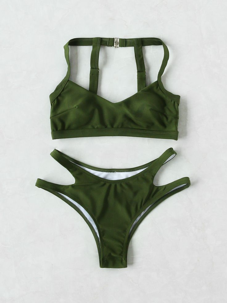 Shop Cut Out Strap Detail Back Bikini Set online. SheIn offers Cut Out Strap Detail Back Bikini Set & more to fit your fashionable needs.