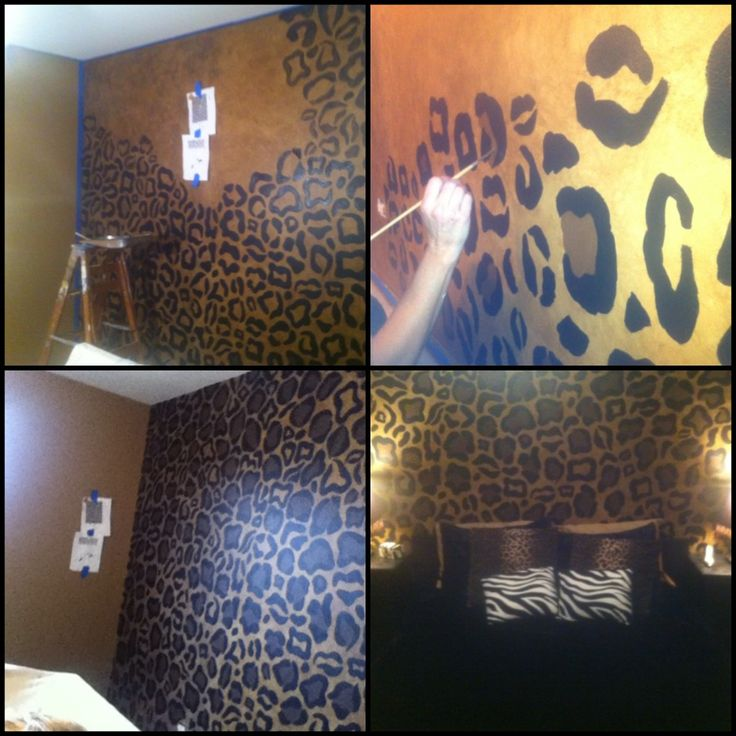 Cheetah wall for bedroom- my best friend posted this!!