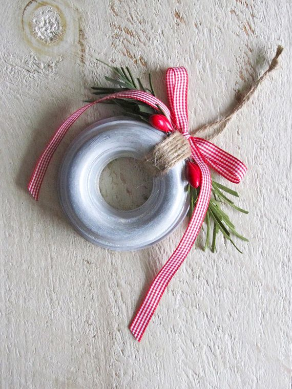 Christmas Ornament Made With a Vintage Round Donut Jello Mold
